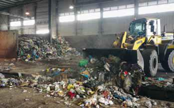 Inteligentne wykrywanie potencjalnego ognia w hali przyjęć odpadów