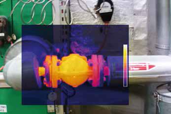 Zdjęcie odwadniacza z kamery termowizyjnej